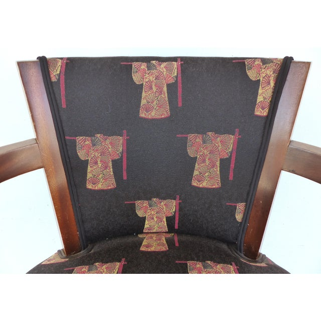French Art Deco Arm Chairs - A Pair For Sale - Image 9 of 11