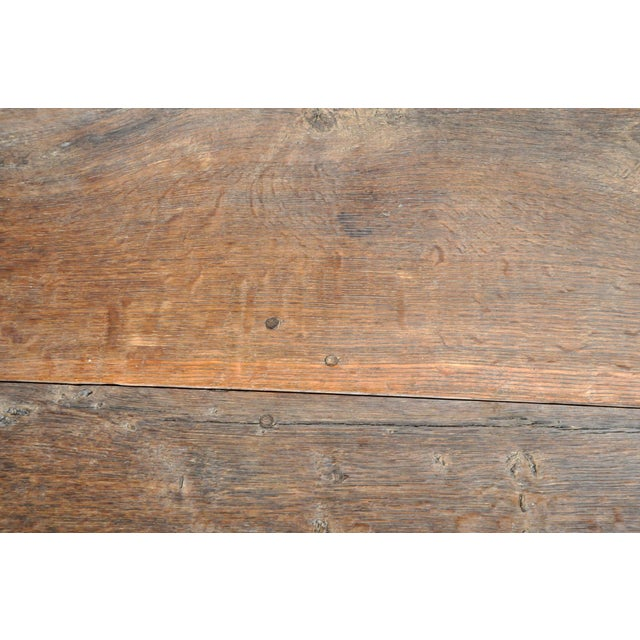 Brown 19th Century Swiss Oak Wood Farm Table For Sale - Image 8 of 13