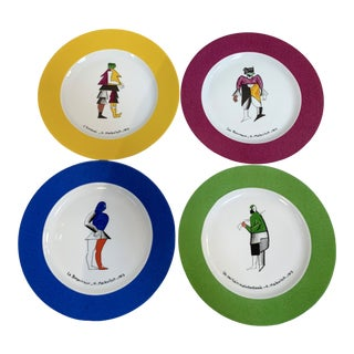 Kasimir Malevich Limoges Porcelain Plates-Set of 4 For Sale