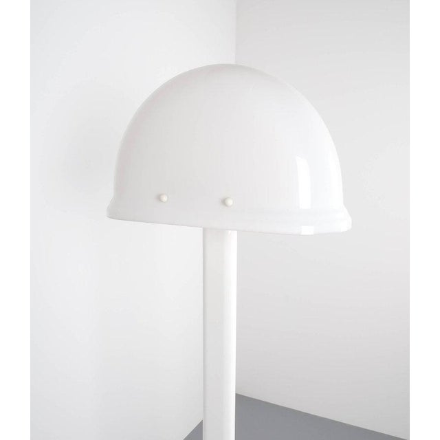 Italian Rodolfo Bonetto White Metal Lucite Floor Lamp Guzzini, Italy, 1970 For Sale - Image 3 of 9
