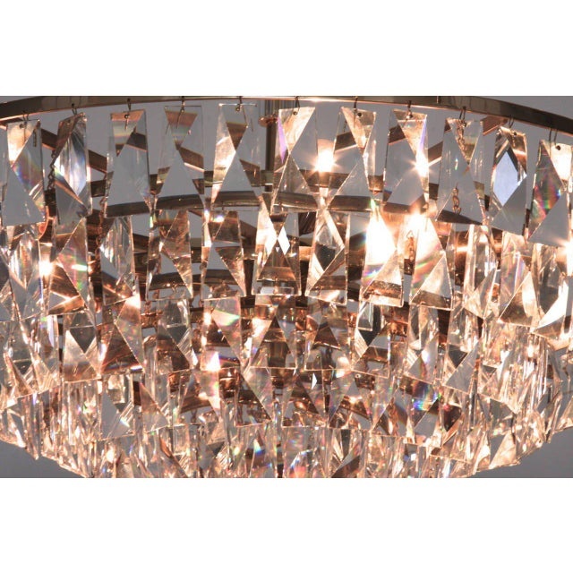 Extraordinary Huge Palwa Gilded Brass and Crystal Glass Chandelier For Sale - Image 6 of 8