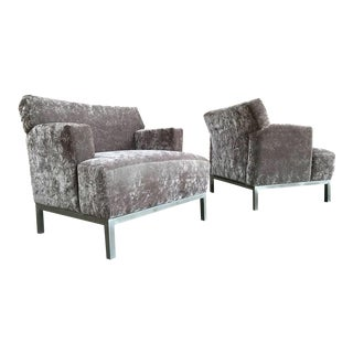 Krug Furniture Modern Carlyle Lounge Chairs - a Pair For Sale