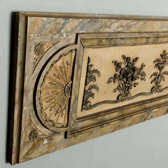 Antique Italian Long Narrow Hand Carved Wood Architectural Piece - Image 3 of 6