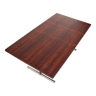 Hans Eichenberger 'Omega' Table in Rosewood and Chrome