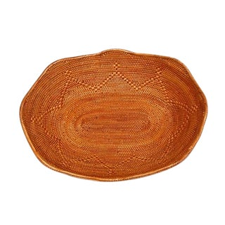 Asian Handmade Oval Bread or Fruit Basket For Sale