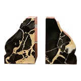 Image of 1940s Vintage Marble Bookends - a Pair For Sale