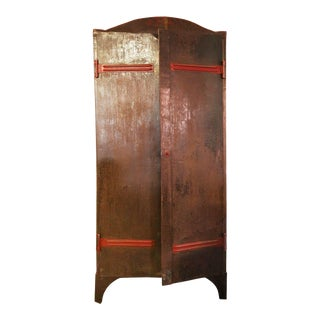 20th Century Traditional Red Metal Cabinet