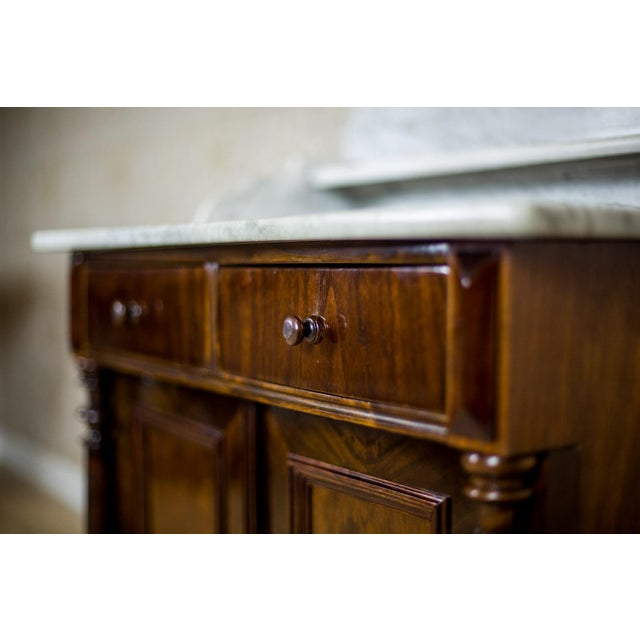 Wood 19th Century Basin Cabinet Veneer with Walnut For Sale - Image 7 of 13