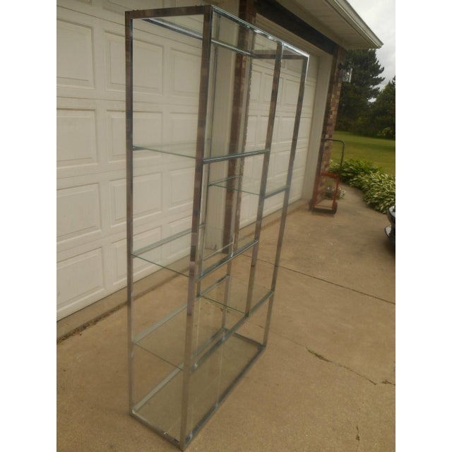 Mid-Century Milo Baughman Chrome & Glass Etagere - Image 3 of 7