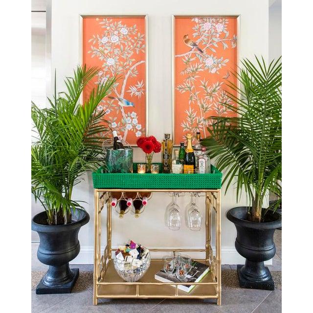 society social madison mixer tray top faux bamboo bar cart chairish. Black Bedroom Furniture Sets. Home Design Ideas