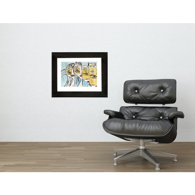This pop fashion inspired painting is on gallery paper. Fun and colorful part of my pop art collection influenced by...