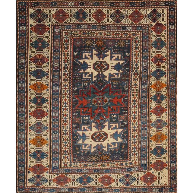 """Pasargad Antique Kazak Wool Rug - 3'7"""" X 4'1"""" - Image 1 of 2"""