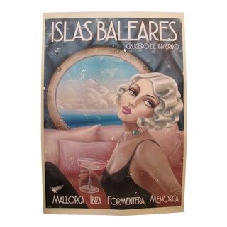 2018 Modern Travel Mallorca Poster, Islas Baleares \ Cruecero De Invierno