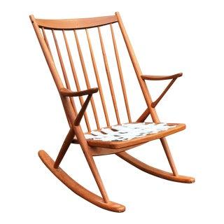 1970s Danish Modern Frank Reenskaug for Bramin Teak Rocking Chair