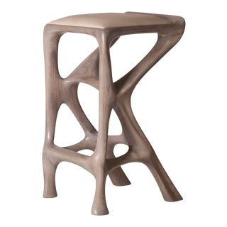 Amorph Chimera Gray Oak Bar Stool For Sale