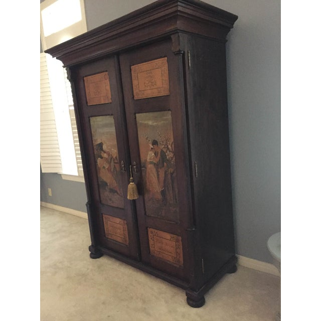 Hand Painted Czech Armoire - Image 4 of 5