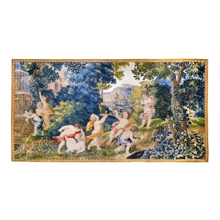 "17th Century Antique Tapestry From Royal Manufacture of Mortlake, United Kingdom - ""Children Game"" For Sale"