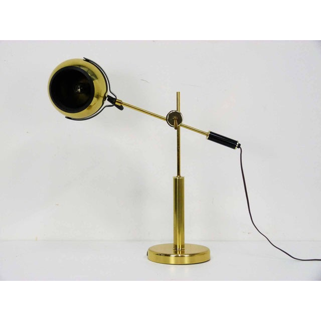 Brass Orb Ball Articulating Desk Lamp - Image 3 of 9
