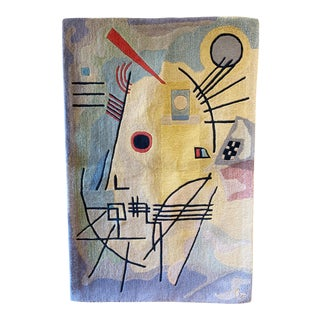 1990s Guggenheim Arts Wassily Kandinsky Inspired Rug / Wall Hanging - 3′9″ × 5′9″ For Sale