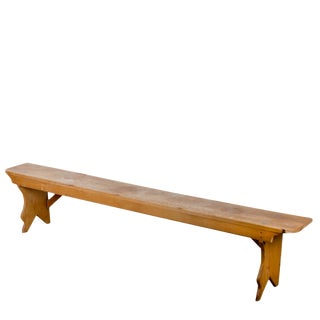 19th Century Pine Bucket Bench For Sale