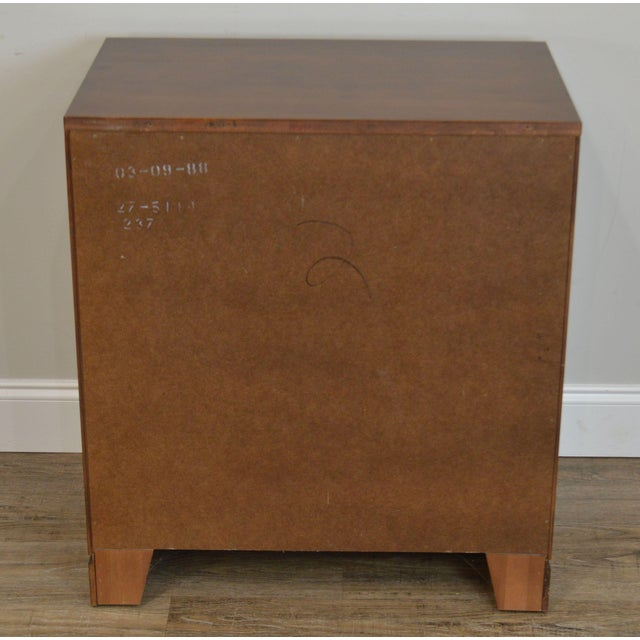 Ethan Allen Campaign Style Pair Solid Cherry 3 Drawer Chests Nightstands For Sale In Philadelphia - Image 6 of 13