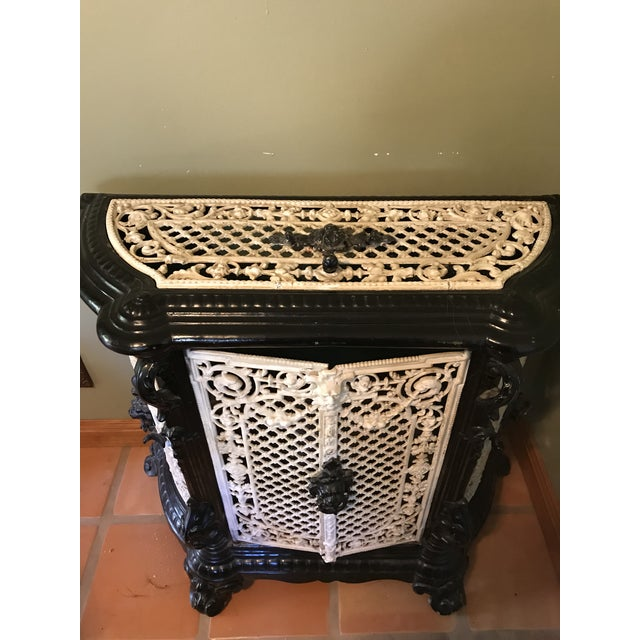 French Antique Rod Iron Heater - Image 3 of 7