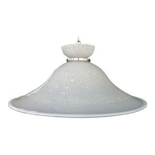 1970's Italian Murano Glass Hanging Dish Pendant Fixture
