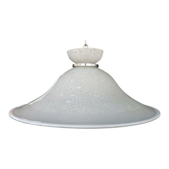 1970's Italian Murano Glass Hanging Dish Pendant Fixture For Sale