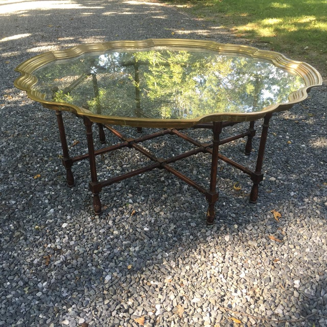 Faux Bamboo Brass Tray Table by McGuire - Image 7 of 10