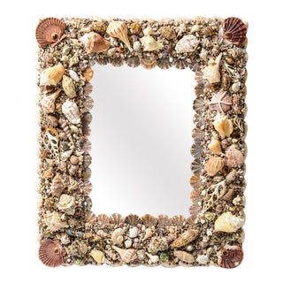 Natural Sea Shell Wall Mirror For Sale