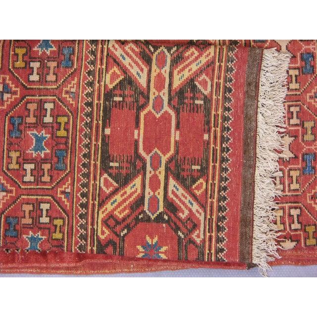 Tribal Antique Unusual Turkoman Bashir Main Rug- 6′10″ × 9′10″ For Sale - Image 3 of 4