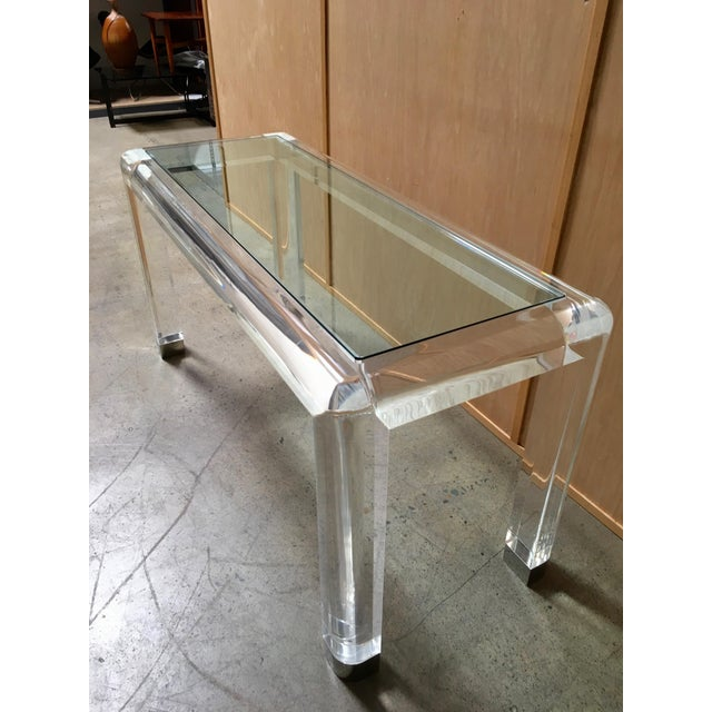Mid 20th Century 20th Century Lucite Console Table For Sale - Image 5 of 13