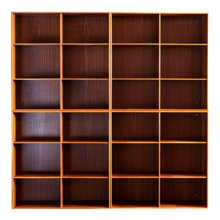 Set of Four Mogens Koch Bookcases in Solid Mahogany for Rud. Rasmussen, Denmark For Sale