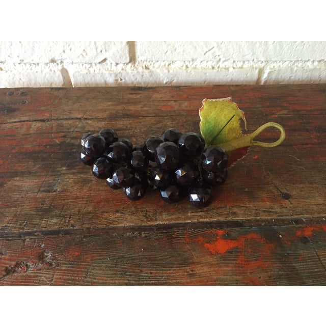 Plastic Dark Purple Grape Cluster - Image 2 of 5