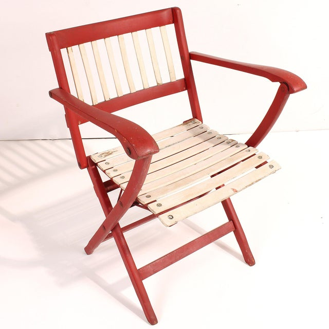 1950s Fratelli Reguitti Folding Deck Chairs - Set of 4 For Sale In San Francisco - Image 6 of 10