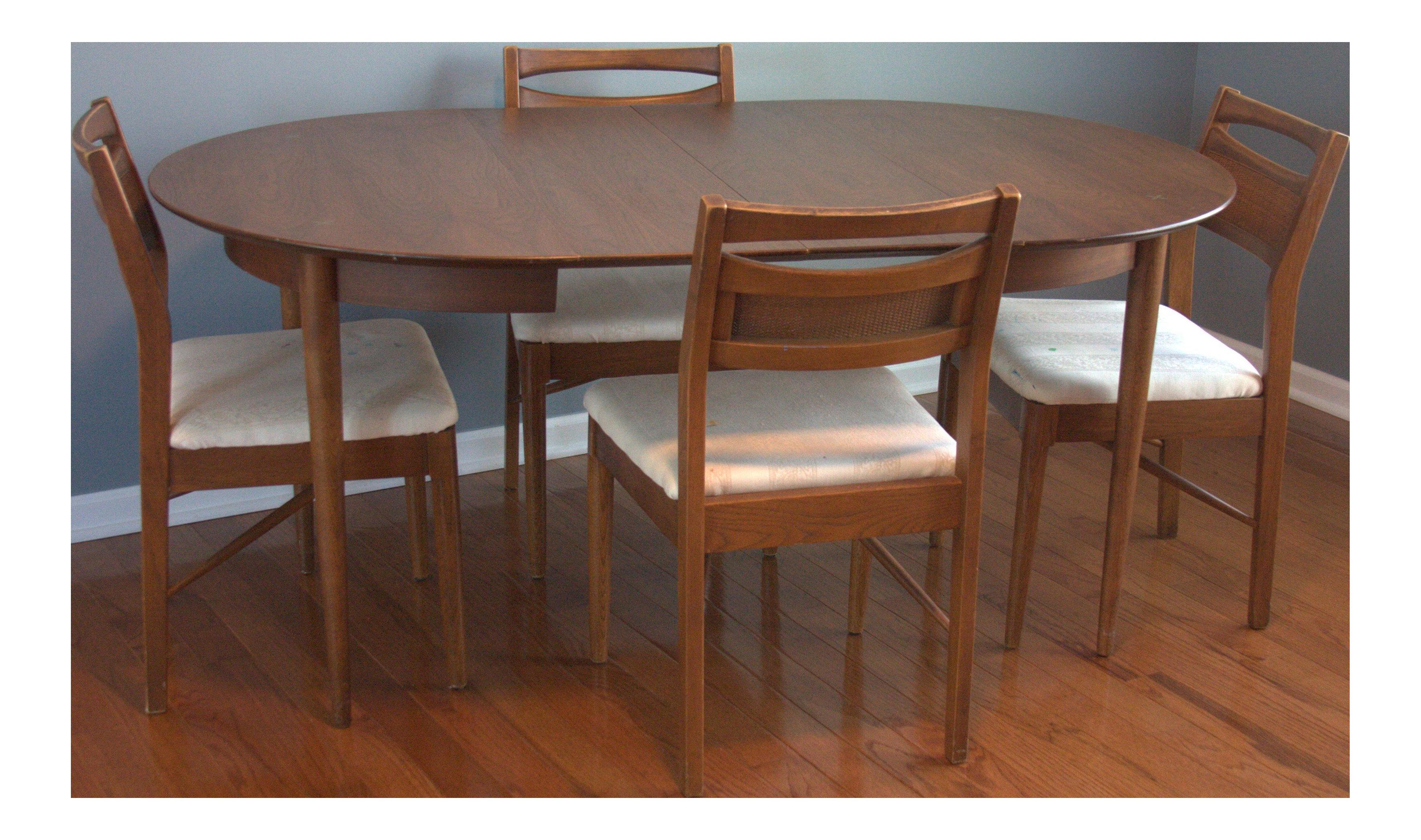 American Of Martinsville Mid Century Danish Modern Dining Set For Sale
