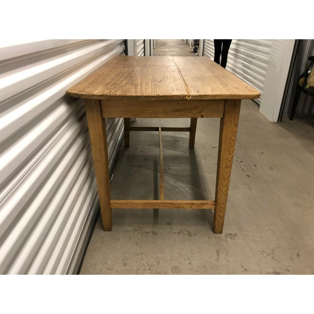 Rustic 1960s Rustic Light Wood Side Table For Sale - Image 3 of 6