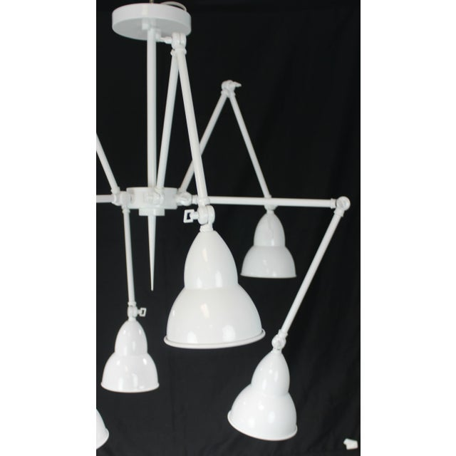 Brass Mid-Century Adjustable Arm Chandelier For Sale - Image 7 of 8