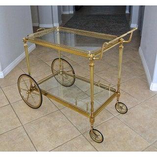 French Maison Jansen Solid Brass Bar Cart Preview