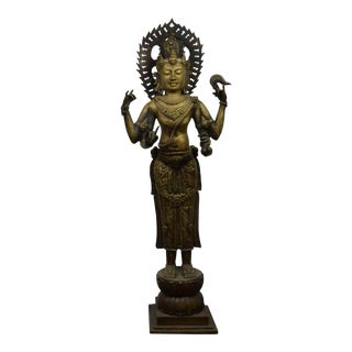 Late 19th Century Asian Bronze Buddha For Sale