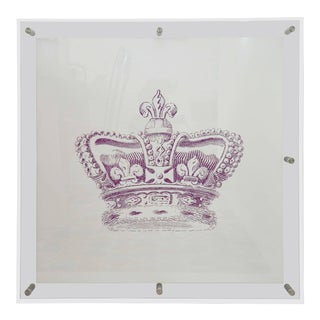 Mitchell Black Custom Crown Art in Acrylic Frame For Sale