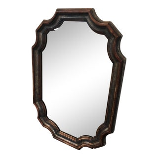 Mid-Century Labarge Scalloped Cartouche Mirror For Sale