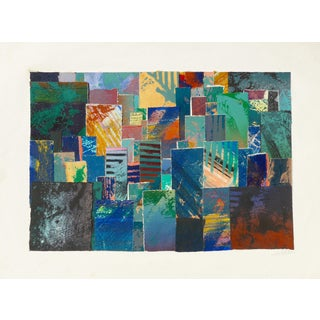 Abstract Collage, Tapestry in Color For Sale