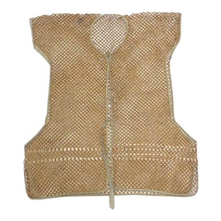 19th Century Bamboo Vest, South China For Sale