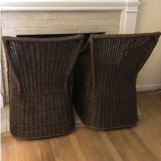 1940s Vintage Wicker Arm Chairs- A Pair Preview
