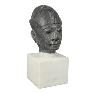 Grand Tour Egyptian Basalt Bust For Sale