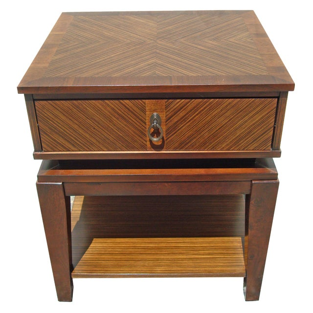 New Mid-Century Style End Table With Drawer - Image 1 of 6