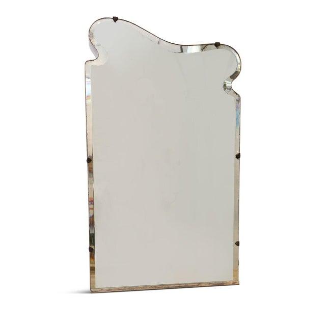 Art Nouveau Asymmetrically-Shaped Art Nouveau Mirror For Sale - Image 3 of 10