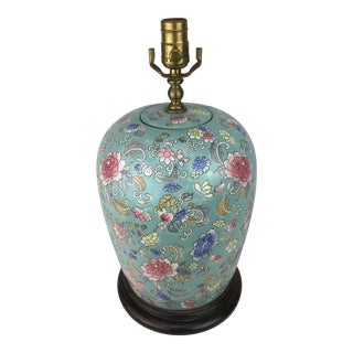 Vintage Chinese Blossom Vase Lamp For Sale
