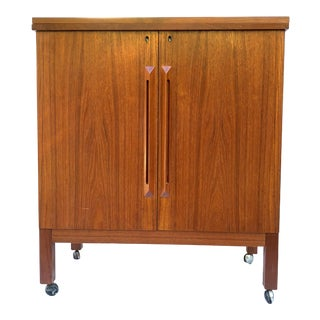 Torbjorn Afdal Mid Century Modern Teak Bar Cart for Bruksbo Norway For Sale